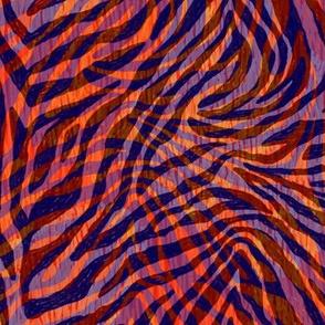 Psychedelic tiger fur