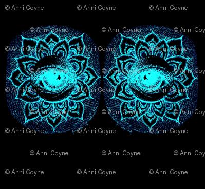 Eye_See_Lotus- Black&Aqua