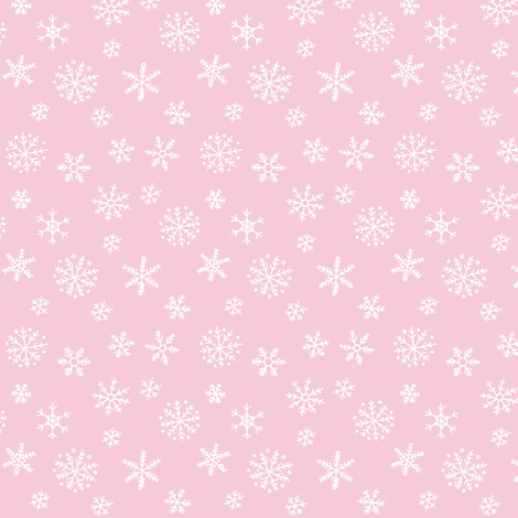 Snowflakes on pale pink fabric by hazelfishercreations on Spoonflower - custom fabric