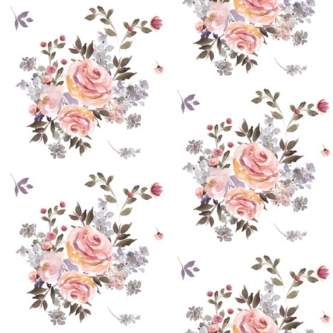 """4"""" Large Owl Floral Bouquet / Mix & Match fabric by shopcabin on Spoonflower - custom fabric"""