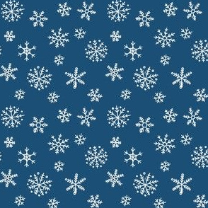 Snowflakes on navy