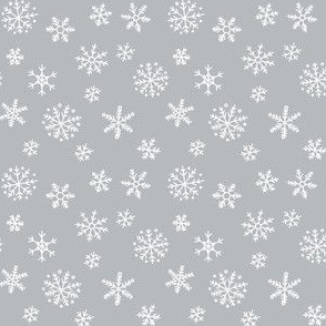 Snowflakes on light grey