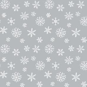 Snowflakes on light grey