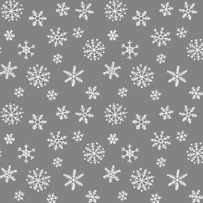 Snowflakes on dark grey