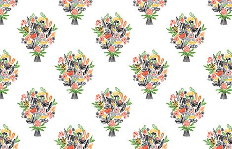 BOUQUET BOUNTY HALF DROP  fabric by kirstenkatz on Spoonflower - custom fabric