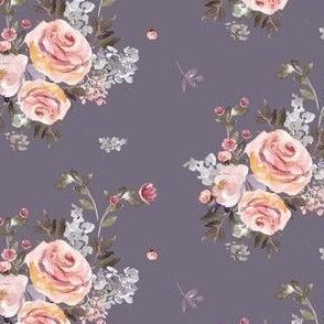 """4"""" Large Owl Floral Bouquet / Lilac"""