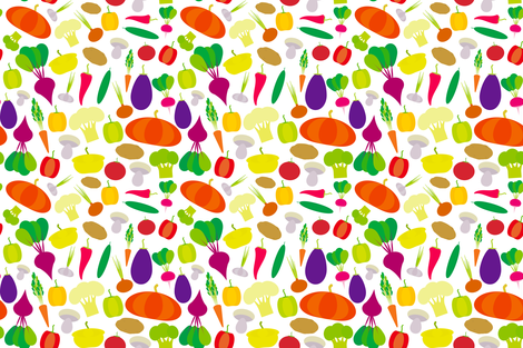 vegetables  fabric by ekaterinap on Spoonflower - custom fabric
