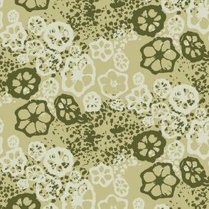 Okra & Broccoli Print