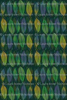 Leaves in blue