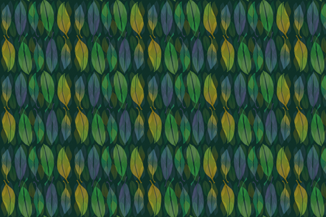 Leaves in blue fabric by lfntextiles on Spoonflower - custom fabric