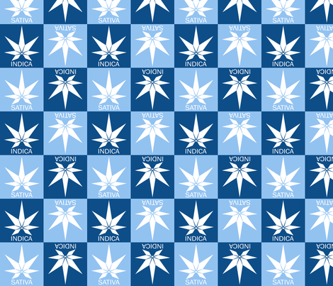 Indica and Sativa fabric by just_get_high on Spoonflower - custom fabric