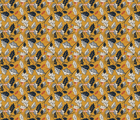 Falling Leaves - Small fabric by blairwhite712 on Spoonflower - custom fabric
