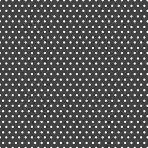 Grey & White Polka