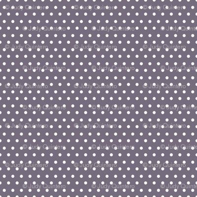 """8"""" Lilac & White Polka Dots"""