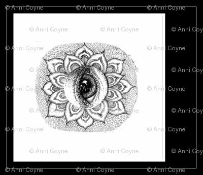 Eye_See_Lotus-Black & white-forCushion