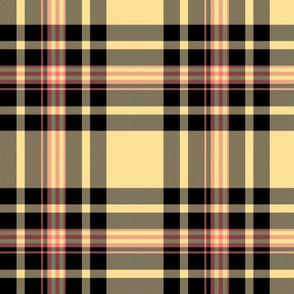 Plaid in Cream Black and Pink