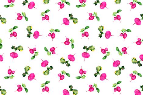 Watercolor pink veggies fabric by katerinaizotova on Spoonflower - custom fabric