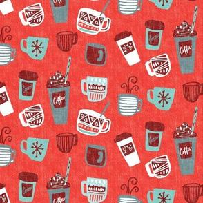 Coffee and Cocoa - Brilliant Red