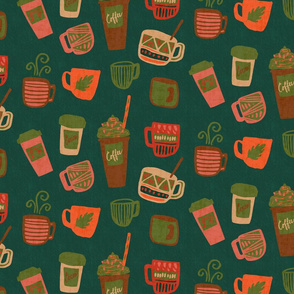 Pumpkin Latte and Cocoa - Fall Edition - Emerald
