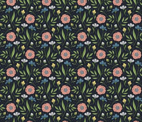 Botanical Blooms fabric - andie_hanna - Spoonflower