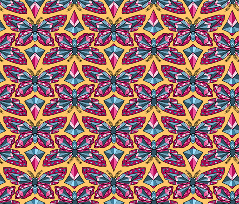 Geo Butterflies fabric by pond_ripple on Spoonflower - custom fabric