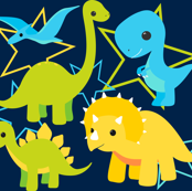 Dinosaurs and stars