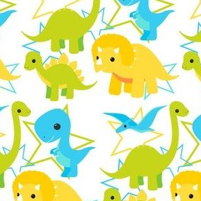Dinosaurs and stars light