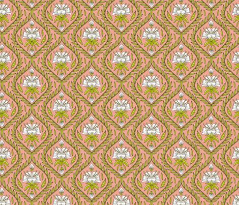 Pineapple Flower Foulard fabric by andie_hanna on Spoonflower - custom fabric