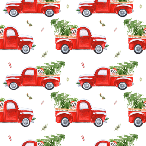 "4"" Best Friend & Christmas Truck fabric by shopcabin on Spoonflower - custom fabric"
