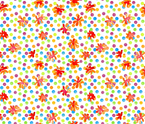 funfetti_dots_and_marigolds fabric by jeanne_sterner on Spoonflower - custom fabric