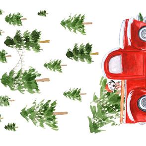 """54""""x36"""" Best Friend Christmas & Truck"""