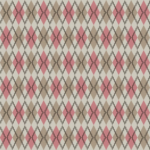 pink and beige argyle 4