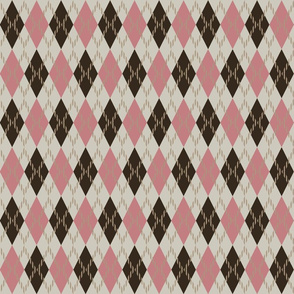 brown and pink argyle