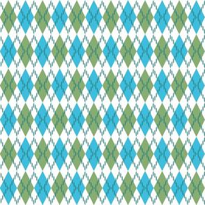 blue  green and white argyle