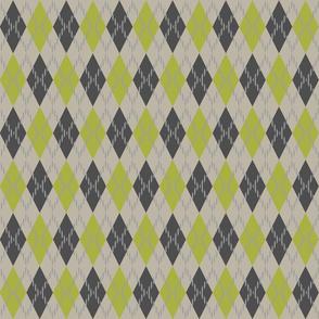 gray green and white argyle
