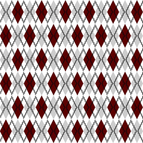 red gray and white argyle