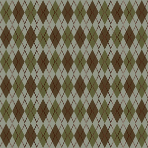 green red and brown argyle
