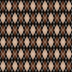 Browns argyle