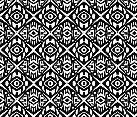 diamonds_crowded_black_small fabric by blayney-paul on Spoonflower - custom fabric