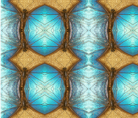 Symmagery Blue Morpho Butterfly fabric by tara_symmagery on Spoonflower - custom fabric