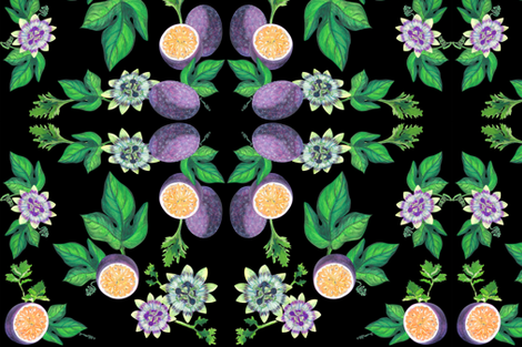 Passionfruit & Celery leaves fabric by bfm on Spoonflower - custom fabric