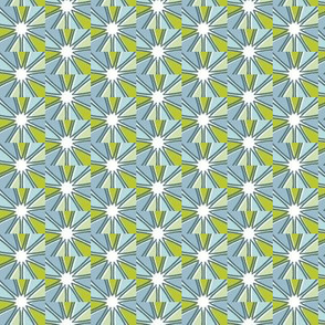 Blue and Green Starburst