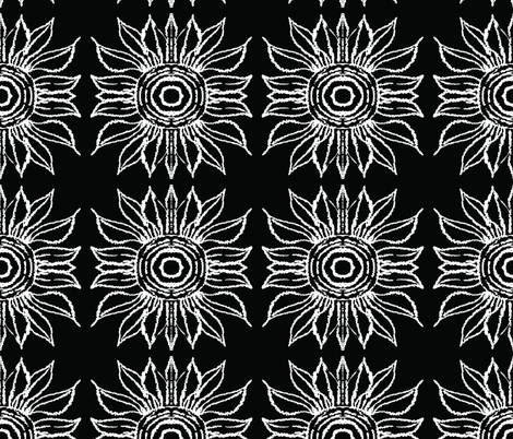 basic_flower_black_small fabric by blayney-paul on Spoonflower - custom fabric