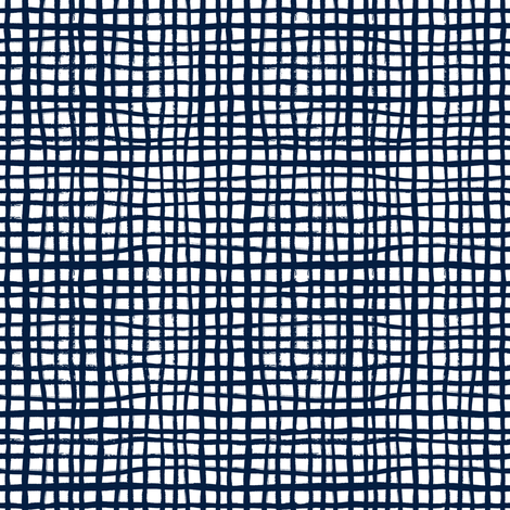 grid lines navy blue grid fabric coordinate fabric by charlottewinter on Spoonflower - custom fabric