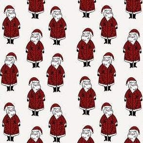 santa fabric // winter christmas santa claus design kids holiday father christmas - white ruby