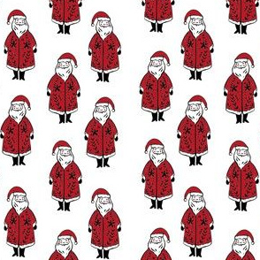 santa fabric // winter christmas santa claus design kids holiday father christmas - white