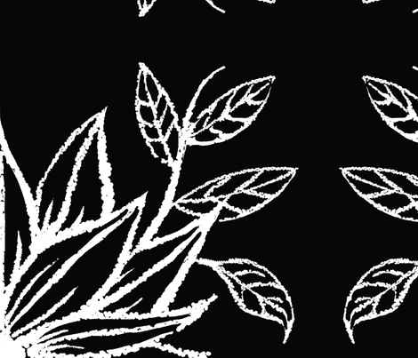 flower_twig_black_large fabric by blayney-paul on Spoonflower - custom fabric