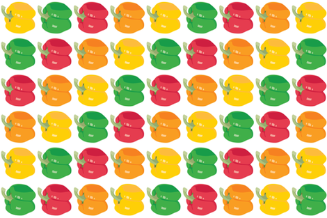 peppers fabric by lilcubby on Spoonflower - custom fabric