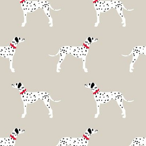Dalmatians on beige