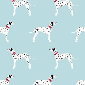 Dalmatians on blue